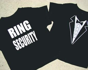 Ring Bearer, Ring Security shirt Tuxedo - RING SECURITY  Tshirt-Child size Tux shirt-Free US Shipping - 2018 I do, Rehearsal dinner tux