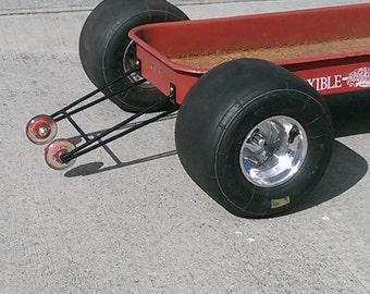 Custom Radio Flyer Wagon Wheelie Bars complete with mounting hardware