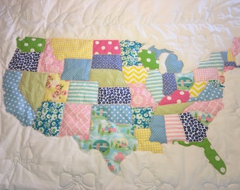 United States Quilted Throw