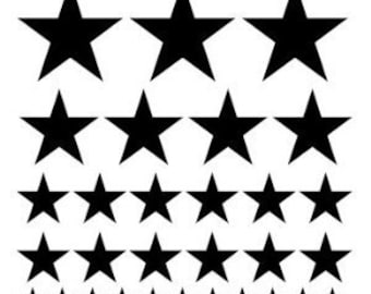 Set of 32 stars - Vinyl Wall Art