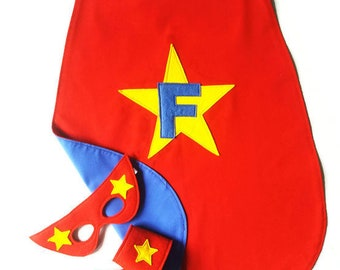 Superhero Cape - Personalised Cape - Reversible Superhero Cape - Double Sided Cape - Superhero Party - Superhero Gift - Gifts for Kids