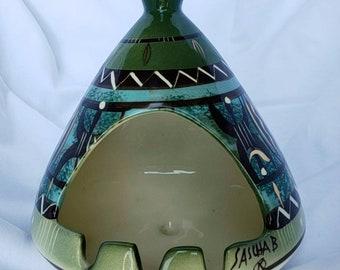 Vintage Sascha Brastoff Chimney/Igloo Ashtray