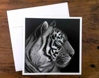Tiger 'Panji' - Greeting card 12.5cm x 12.5cm
