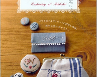 EMBROIDERY OF ALPHABET Japanese Craft Book