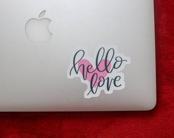 Hello Love Die-Cut Vinyl Sticker