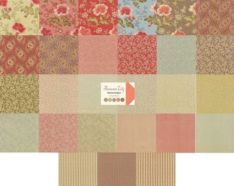 Moda Autumn Lily Charm Pack by Blackbird Designs- 5 inch squares 2740PP