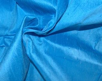 Silk Dupioni in  Blue ivory- Extra wide 54 inches Half Yard, DEX 207