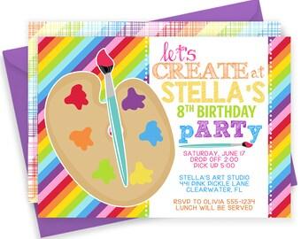 Art Party Invitation, Art Invitation, Art Party, Art Invitations Birthday, Art Birthday Party Invitation,Art Invite,Art Party Invitation 441