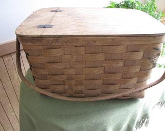 Vintage Basketville Picnic Basket Vermont Food Hampers Rustic Baskets Outdoor Dining