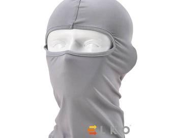 Grey Balaclava Mask Under Helmet Winter Warm Army Style Neck Warmer