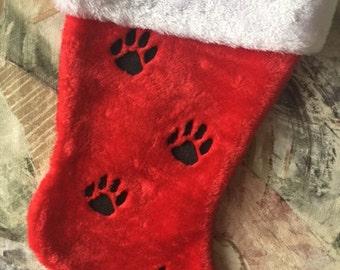 Christmas Stocking, Dog Stocking, Embroidered Animal Stocking, Pet Stocking, Custom Stocking, Dog Christmas Stocking