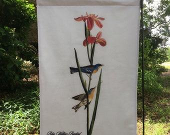 Blue Yellow-backed Warbler, Jumbo Audubon Garden Flag