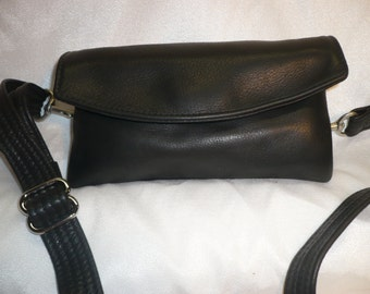 Soft Naked leather  Fanny Pack, Shoulder bag, and clutch combination. Style #177FP