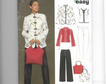 New Look Jacket, Vest, Top , Pants and Bag Pattern 6435