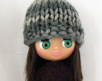 Petite Blythe doll Angelina Hat knitting PATTERN - cute toque skullcap winter hat - instant download - permission to sell finished items