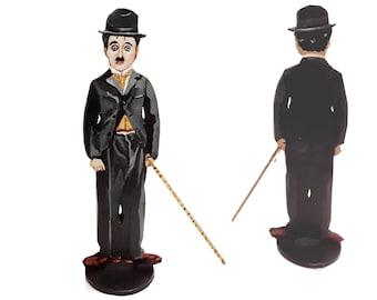Charlie Chaplin The Little Tramp Hand Painted 2D Art Figurine