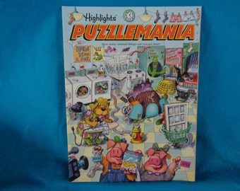 Vintage 1993 Highlights Puzzlemania activity book by Highlights for Children