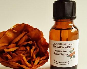 Nourishing Facial Serum w/ Argan Oil, Rosehip Oil, Jojoba, Facial Oil, Facial Moisturizer, face oil, skin care, anti wrinkle, anti aging oil