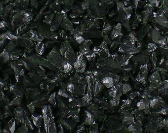 Destash Glass Frit Blend Dark Green Aventurine COE 96 Compatible 1.9 oz Bag