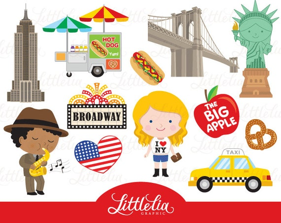 new york clipart - i love ny clipart - 16030 from littleliagraphic