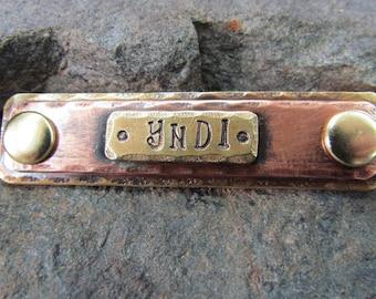 Pet ID tag - Horse Halter Tag - Pet tag - Dog collar Tag/tag - Halter/Bridle Tag/tag Brass  Copper