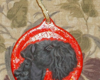 Kerry Blue Terrier Dog Custom Painted Christmas Ornament Christmas decoration