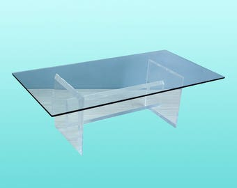 Rectangular Acrylic Coffee Table