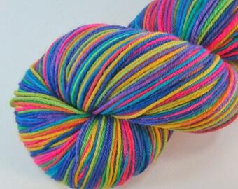hand dyed sock yarn superwash merino nylon fingering BOING 460 yds.