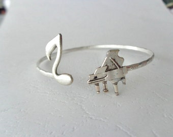 Piano music bracelet, wrap style