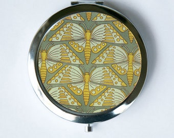 Art Nouveau Butterflies  Compact Mirror Pocket Mirror design Pattern