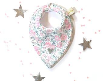 Liberty Bliss blotter pink bandana bib