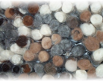 Alpaca Bits and Pieces for Needle Felting