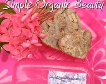For Extra Oily Skin/Acne 2 Heart Shaped Bars RAW African Black Soap