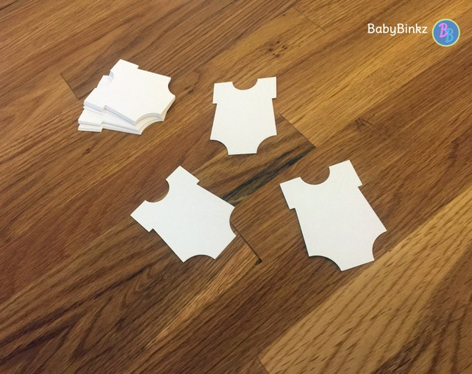 Die Cut White Bodysuit (25+) - photo prop party decoration punch cutout card stock baby infant