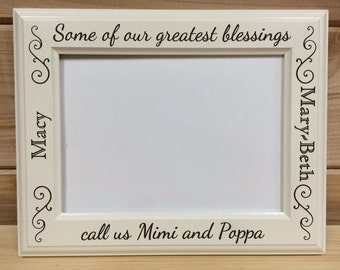 Picture Frame Grandparent , 4x6 & 5x7, Laser Engraved, Personalized