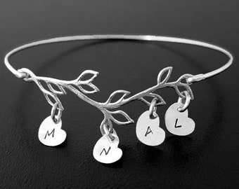 Last Minute Mothers Day Gift for Sister From Sister or Sister in Law Gift Family Tree Bracelet for Mother in Law Gift From Daughter Jewelry
