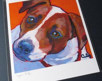 JACK RUSSELL Dog Art 8x10 Signed Print — Lynn Culp