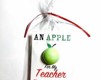 DIY Lip Balm Kit, Choose Red or Green Lip Balm, Thank You Gift, Teacher, Organic Lip Balm, Petrolatum Free, Gluten Free, Made in the USA