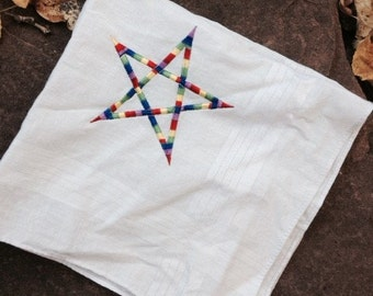 Rainbow Pentagram Handkerchief