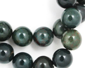 Indian Bloodstone Beads - 10mm Round