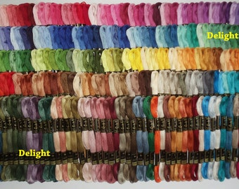250 Anchor Cross Stitch Cotton Embroidery Thread Floss Skeins - ASSORTED COLORS