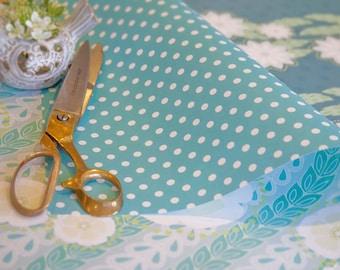 Willow gift wrap - fresh blues