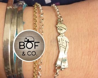 The Little Prince Bracelet, the Little Prince silver bracelet, le petit prince
