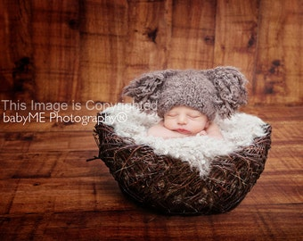 Snuggle Soft Tassel Hat for newborn photography