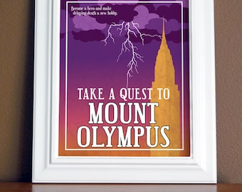 Mount Olympus Travel Poster 16x20