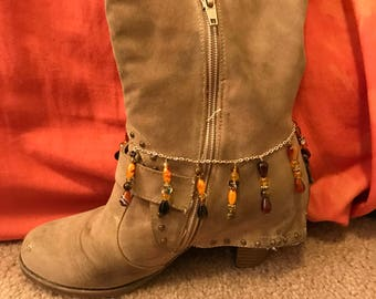Brown Mix Dangle Boot Chain