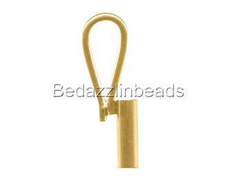 Gold Plated Vertical Brooch Converter for Changing Pins To Pendants
