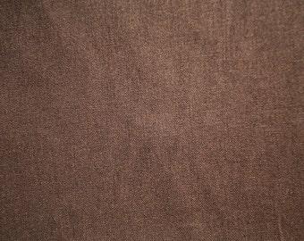 "Dark Brown Linen Fabric 60"" Wide Per Yard"