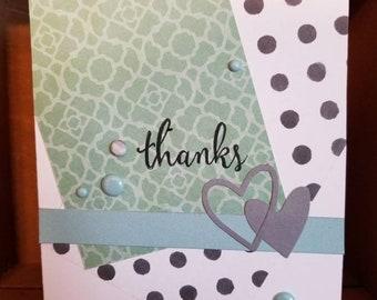 Heart Polka Dot Thank You Card