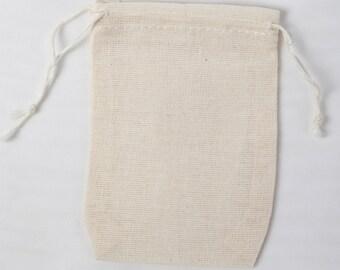 1000 2.75x4 inch Cotton Muslin Double Drawstring Bags